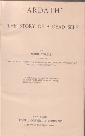 cover image of Ardath, the story of a dead self, for sale in New Zealand