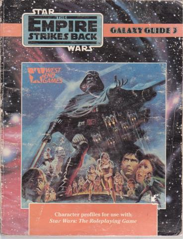 STAR WARS THE ROLEPLAYING GAME Galaxy Guide 3; The Empire Strikes Back, for sale in New Zealand