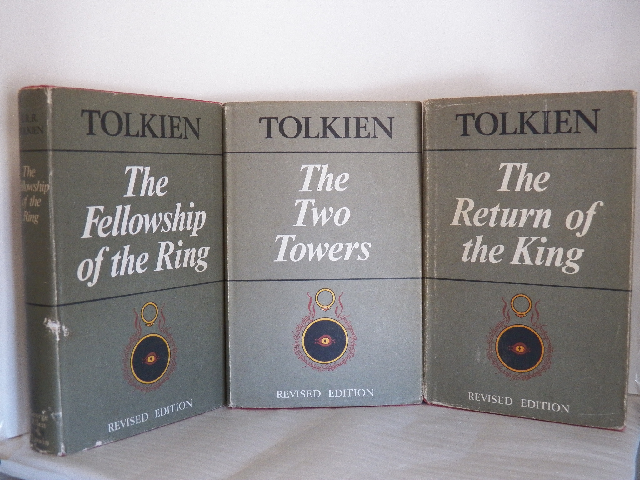 cover image of The Lord of the Rings; The Fellowship of the Ring, The Two Towers, The Return of the King second edition set for sale in New Zealand