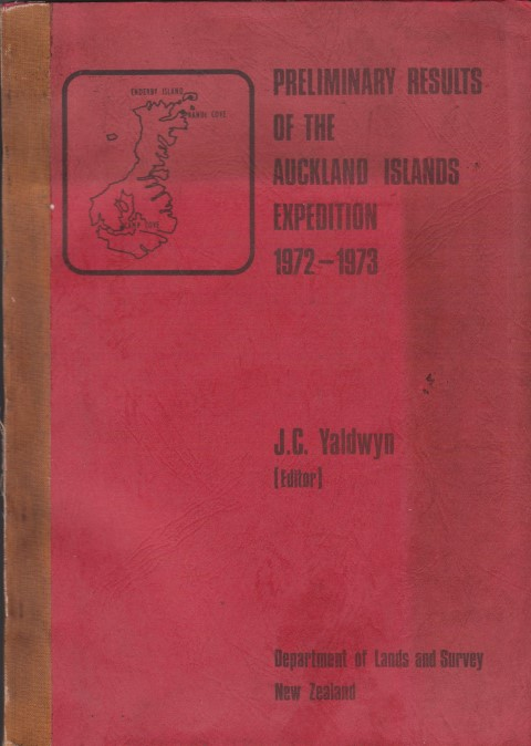 cover image of Preliminary Results of the Auckland Islands Expedition 1972-1973, From Reports of Participants to the Director-General of Lands