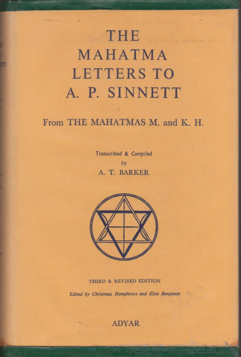 cover image of The Mahatma Letters to A. P. Sinnett