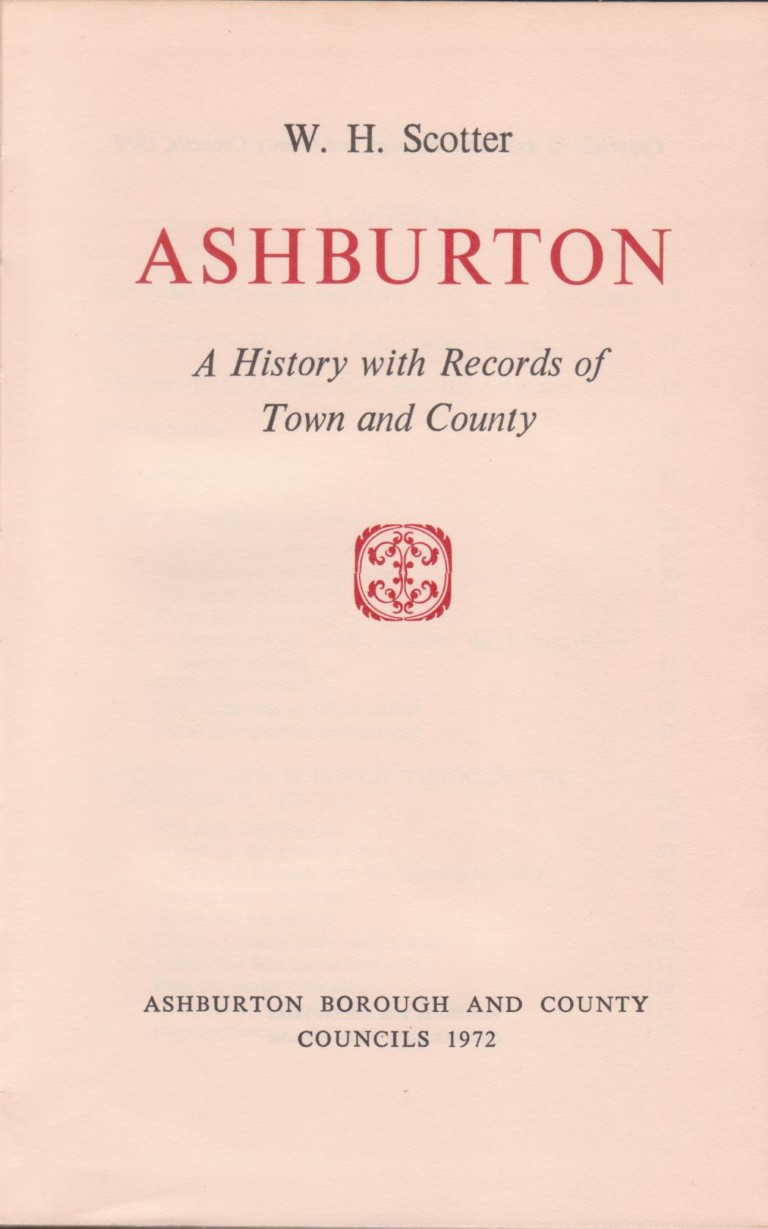 cover image of Ashburton: A History with Records of Town and County