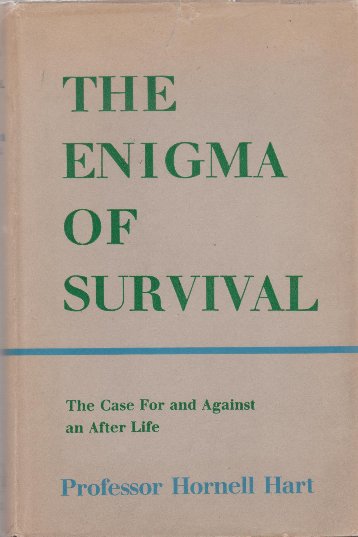 cover image of The Enigma of Survival, the case for and against an after life, for sale in New Zealand