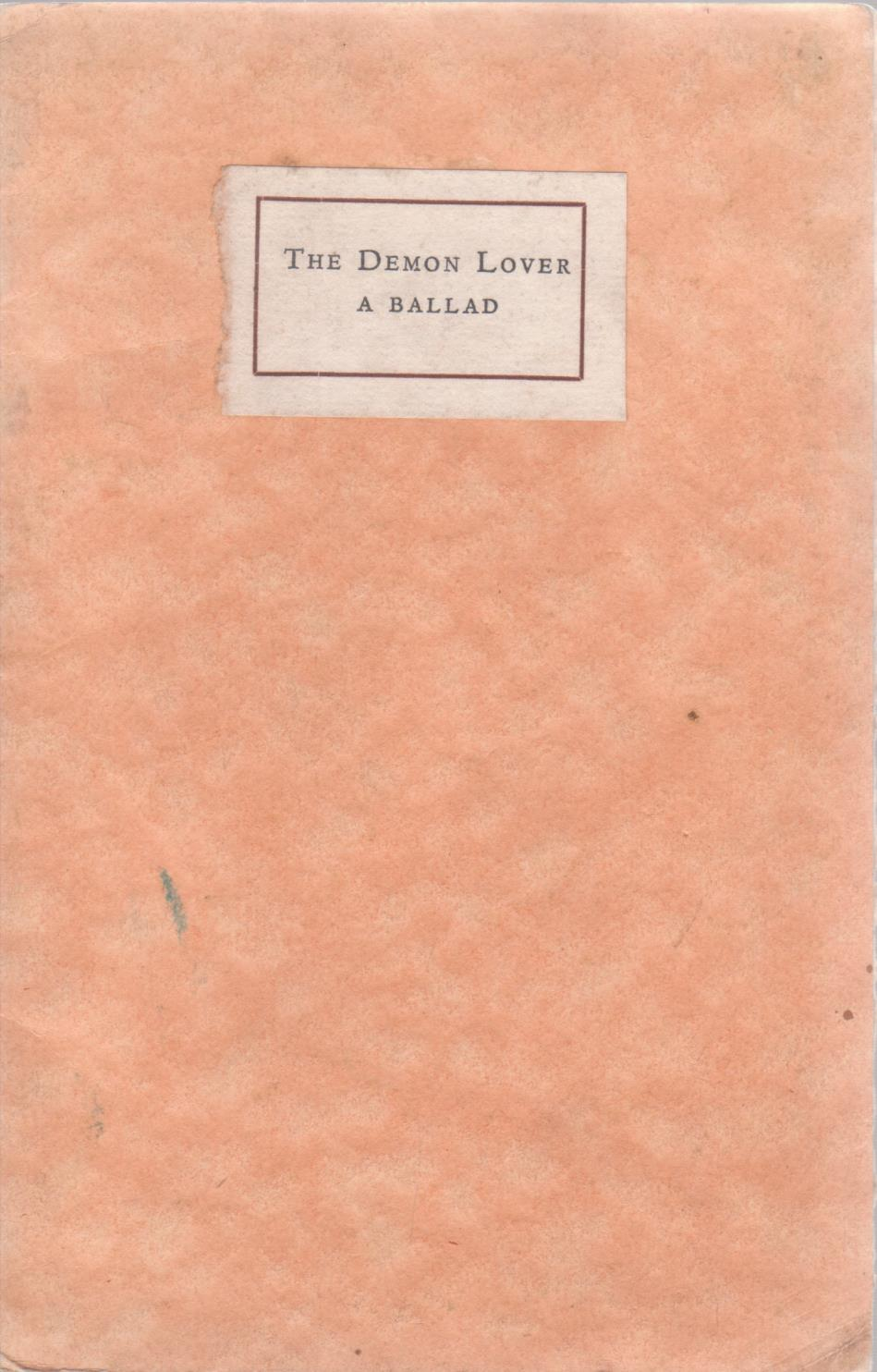cover image of The Demon Lover, a ballad, by Ruth dallas, for sale in New Zealand