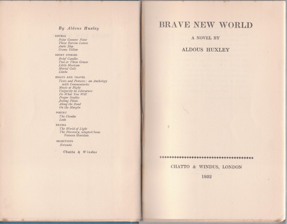 cover image of Brave New World for sale in New Zealand