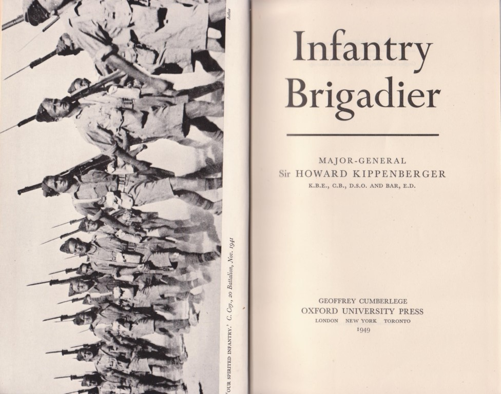 cover image of Infantry Brigadier by Kippenberger for sale in New Zealand