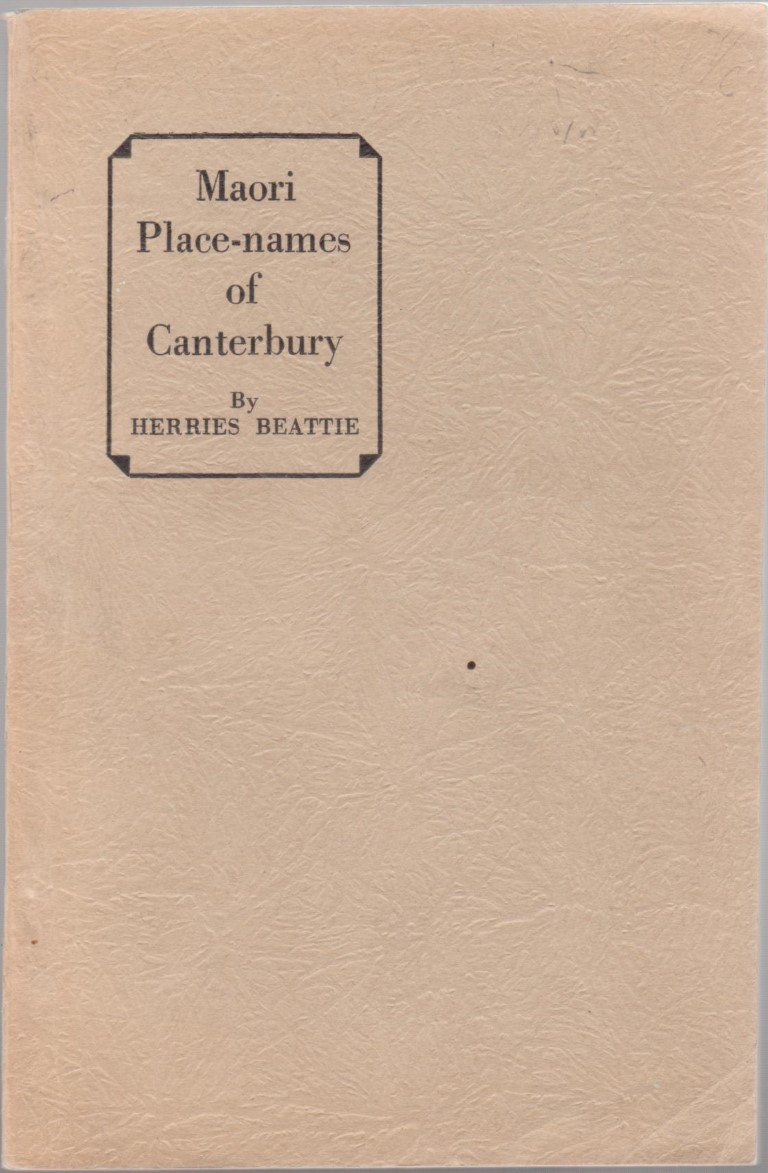 cover image of Maori Place-Names of Canterbury for sale in New Zealand