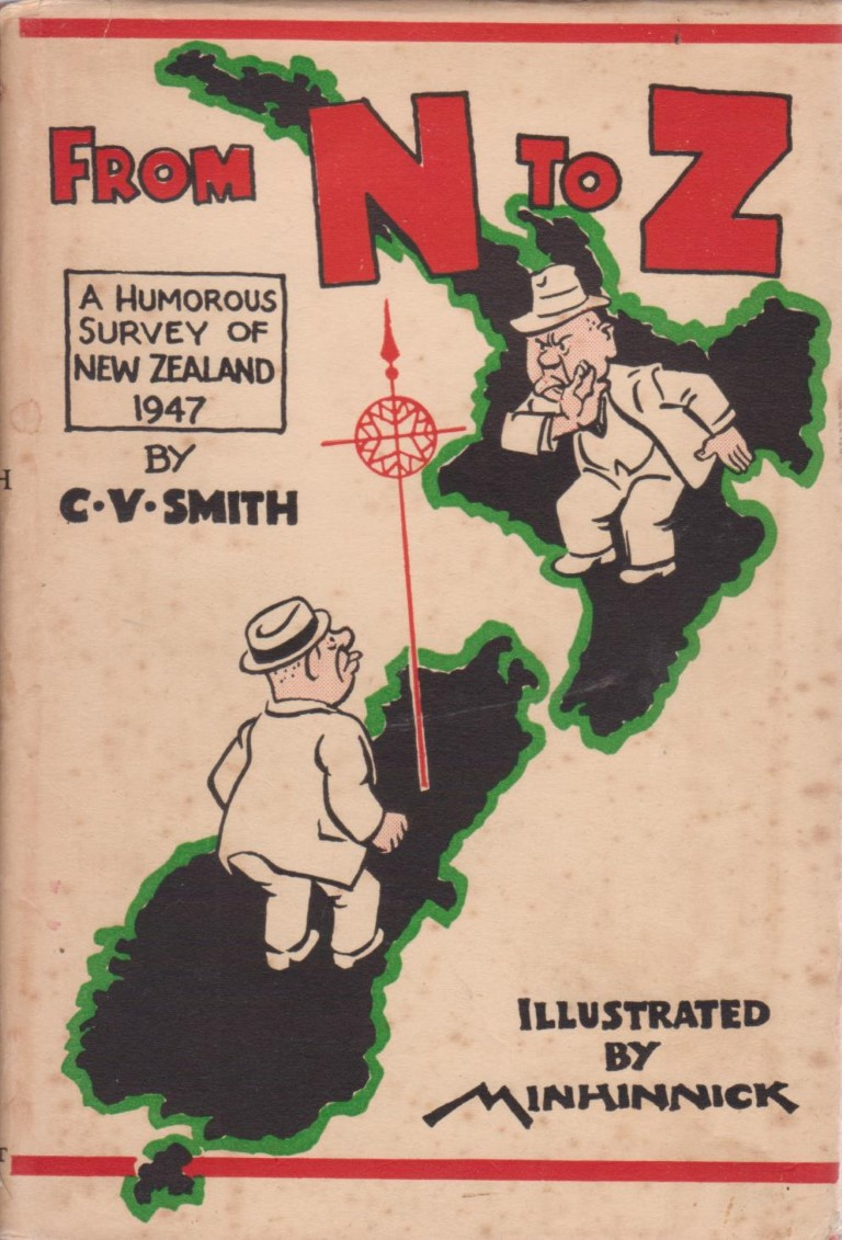 cover image of From N to Z, A Humorous Survey of New Zealand 1947 for sale in New Zealand