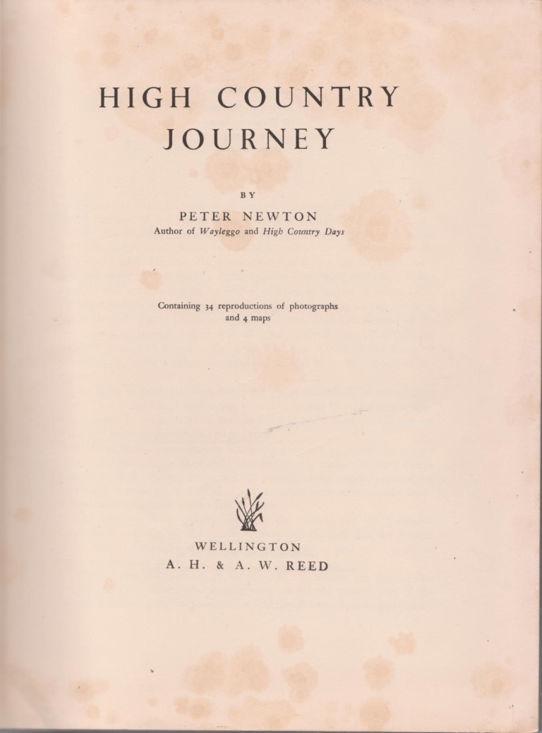 cover image of High Country Journey contents for sale in New Zealand