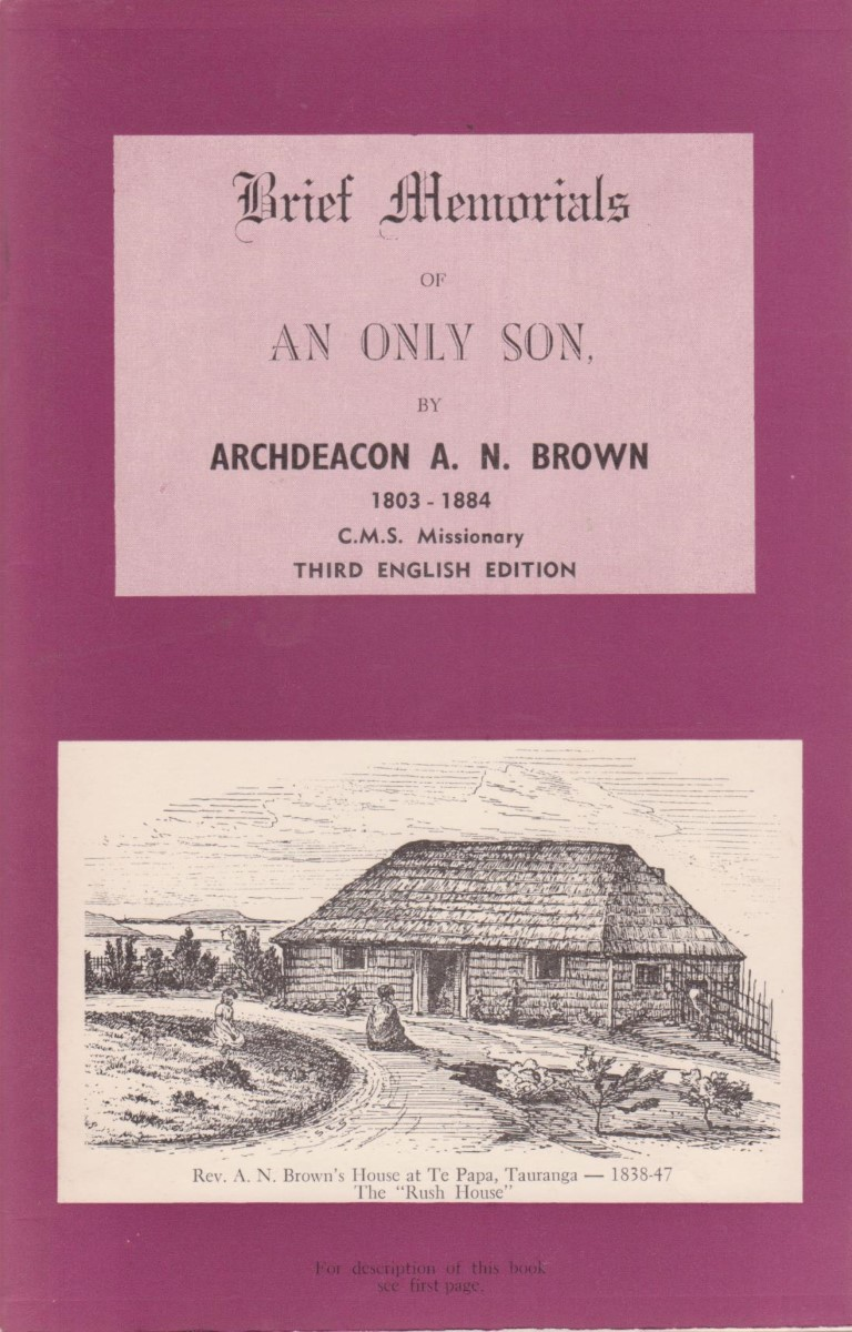 cover image of Brief Memorials of an Only Son by Archdeacon A. N. Brown, for sale in New Zealand