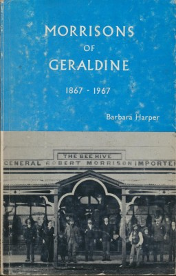 cover image of Morrisons of Geraldine 1867-1967 for sale in New Zealand