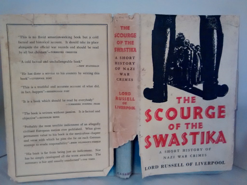 cover image of The Scourge of the Swastika, a Short History of Nazi War Crimes. for sale in New Zealand