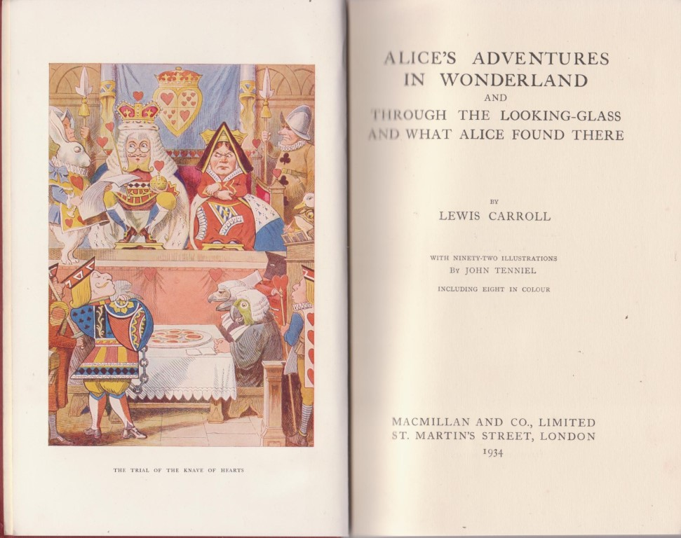 cover image of Alice's Adventures in Wonderland and Through the Looking-Glass illustrated by Tenniel for sale in New Zealand