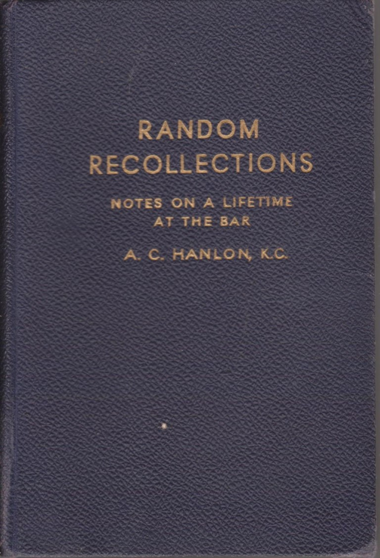 cover image of Random Recollections, Notes on a Lifetime at the Bar, for sale in New Zealand