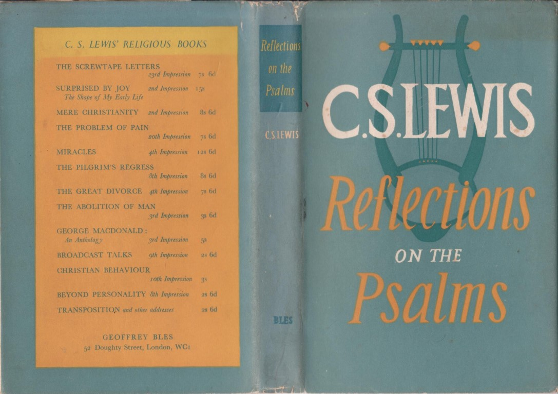 cover image of Reflections on the Psalms by C S Lewis, for sale in New Zealand