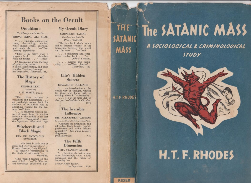 cover image of The Satanic Mass, a Sociological and Criminological Study, for sale in New Zealand