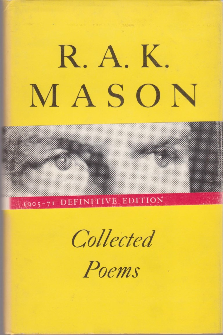 cover image of Collected Poems by R A K Mason, for sale in New Zealand