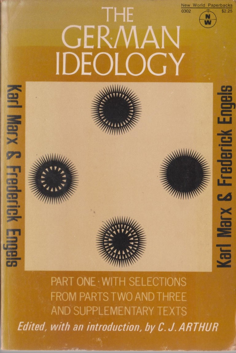 cover image of The German Ideology Part One, for sale in New Zealand