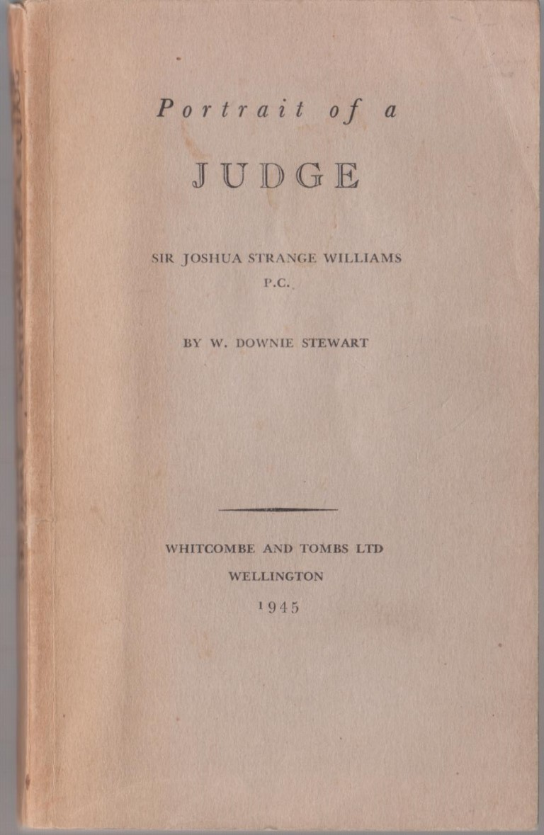 cover image of Portrait of a Judge, Sir Joshua Strange Williams P.C., for sale in New Zealand