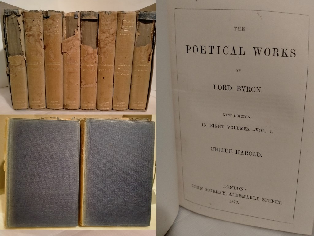cover image of The Poetical Works of Lord Byron in 8 volumes, for sale in New Zealand