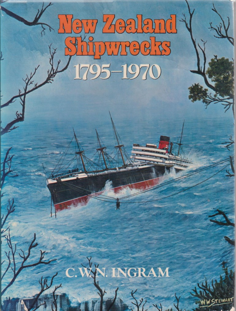 cover image of New Zealand Shipwrecks 1795-1970 for sale in New Zealand