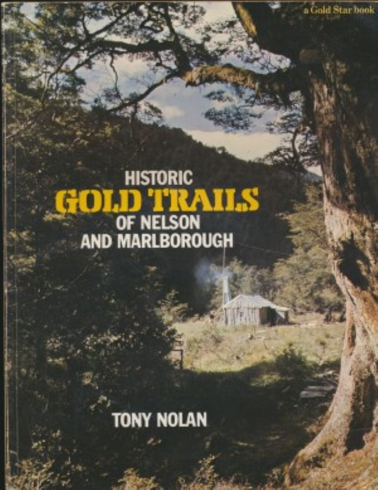 cover image of Historic Gold Trails of Nelson and Marlborough for sale in New Zealand
