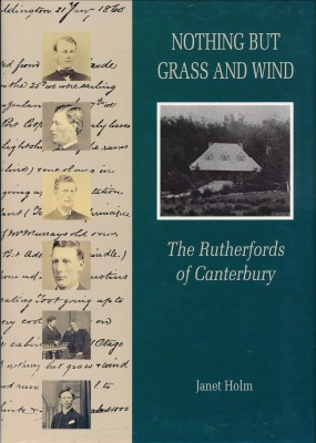 cover image of Nothing but Grass and Wind, The Rutherfords of Canterbury for sale in New Zealand