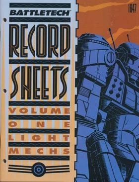 cover image of BattleTech Record Sheets Volume One 1= light mechs (1647), for sale in New Zealand