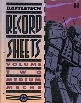 cover image of BattleTech Record Sheets Volume Two 2= medium mechs (1648), for sale in New Zealand