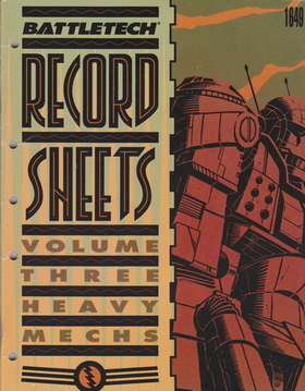 cover image of BattleTech Record Sheets Volume Three 3= heavy mechs, for sale in New Zealand