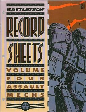 cover image of BattleTech Record Sheets Volume Four 4= assault mechs, for sale in New Zealand