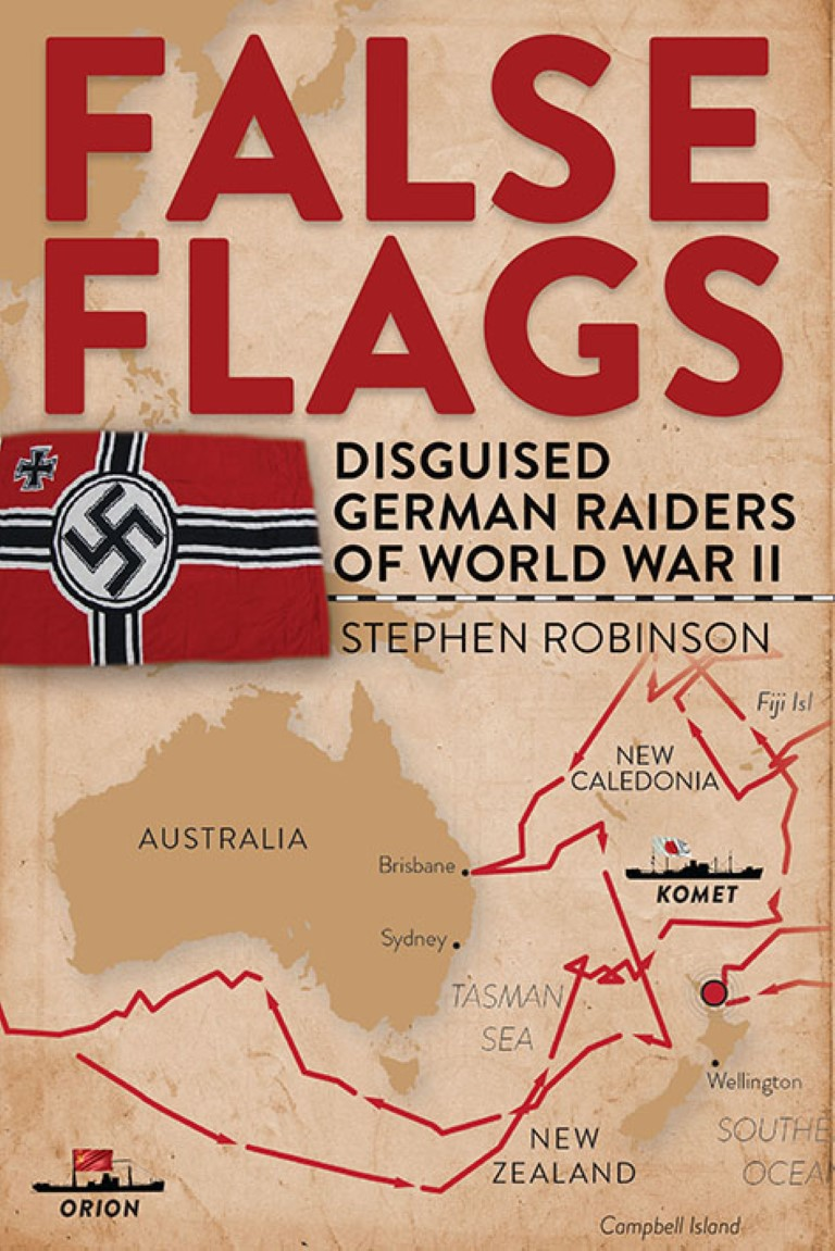 cover image of False Flags: Disguised German Raiders of World War II for sale in New Zealand