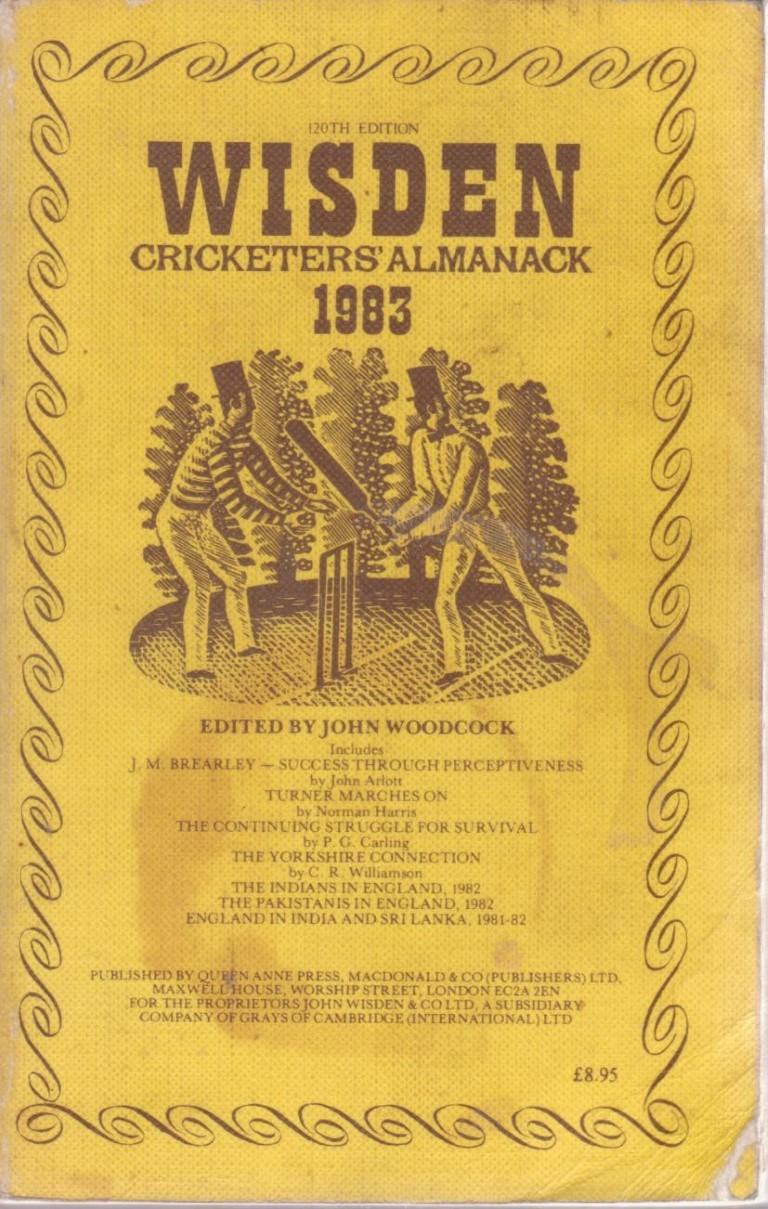 cover image of WISDEN Cricketers' Almanack 120th edition for sale in New Zealand