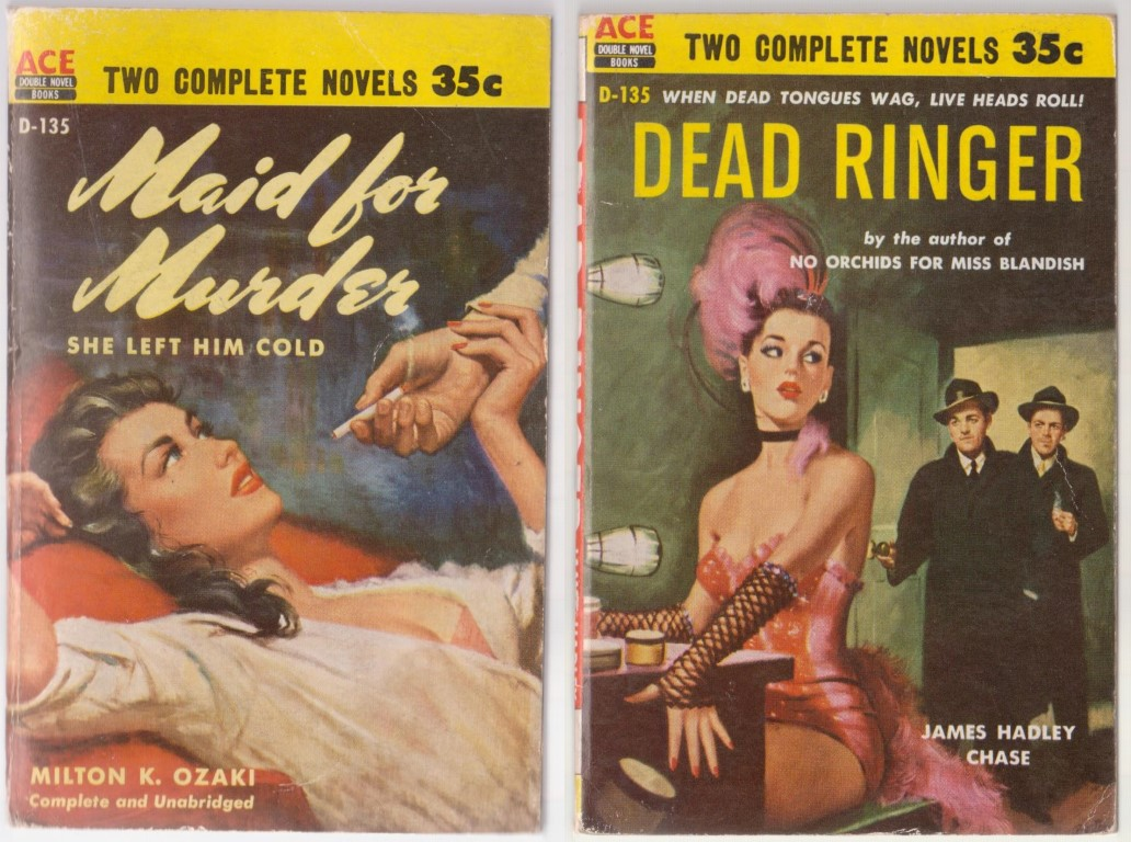 cover image of Ace Double D-135 Dead Ringer + Maid for Murder for sale in New Zealand